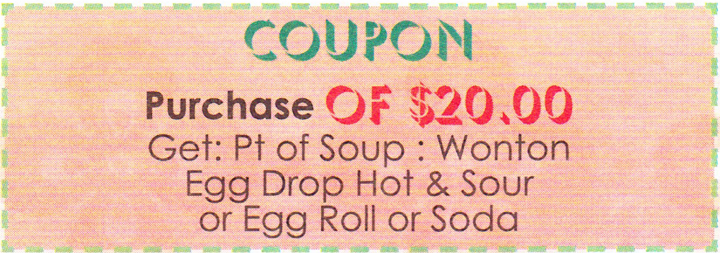Chinese restaurant coupons